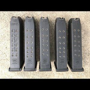 5 glock 22 factory 15 round magazines